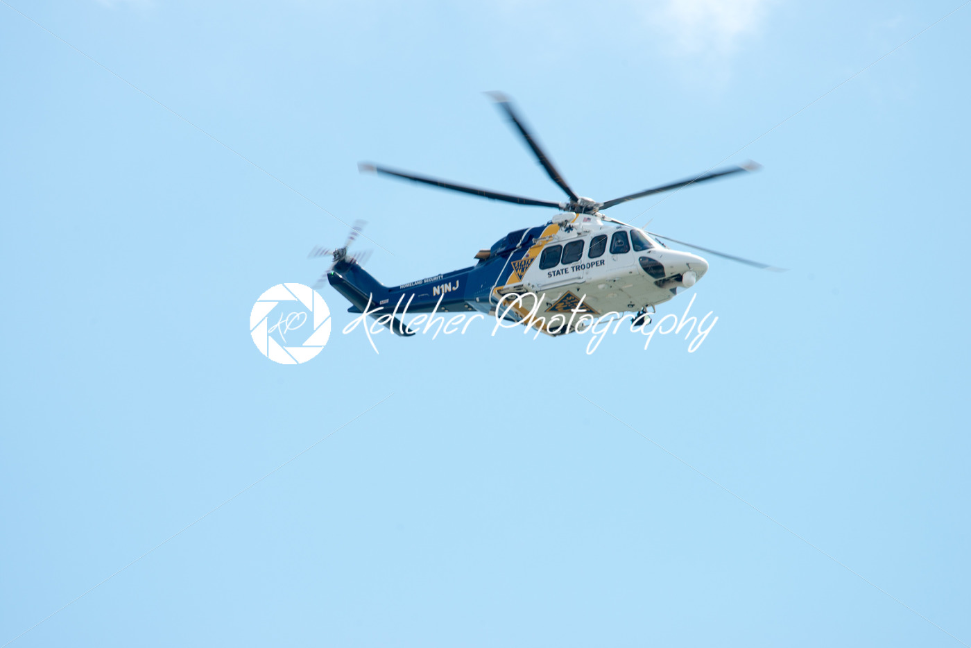 ATLANTIC CITY, NJ – AUGUST 17: NJ State Police Trooper Helicopter at Annual Atlantic City Air Show on August 17, 2016 - Kelleher Photography Store