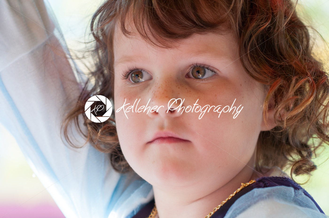 Close up Portrait of young girl outside - Kelleher Photography Store