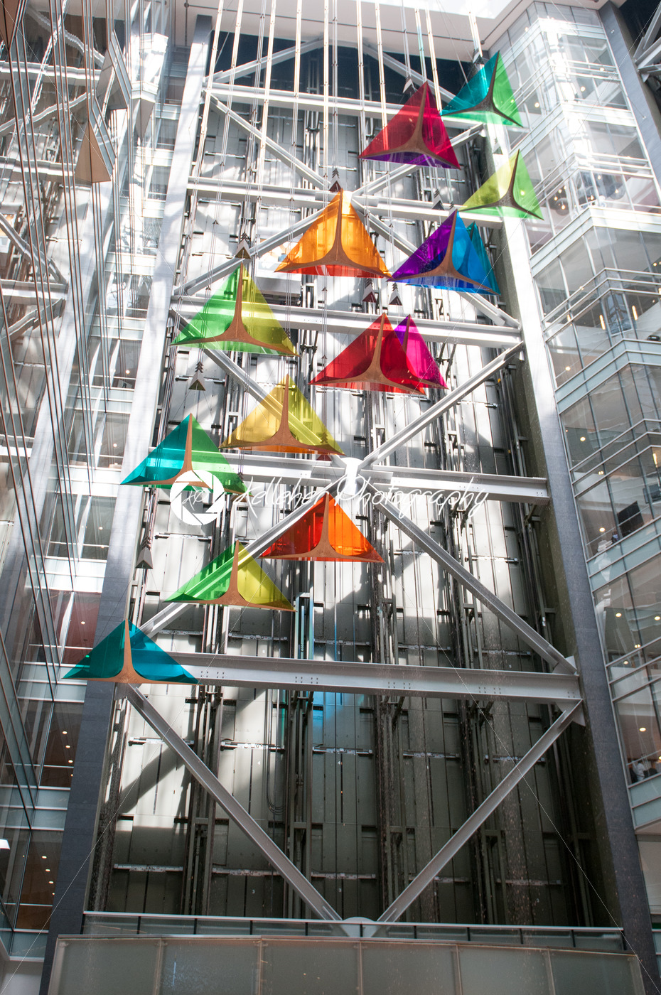 DETROIT, MI – MAY 8: Looking from the ground at one of Detroit's new office buildings, One Campus Martius, Headquaters of Compuware and Quicken Loans. - Kelleher Photography Store
