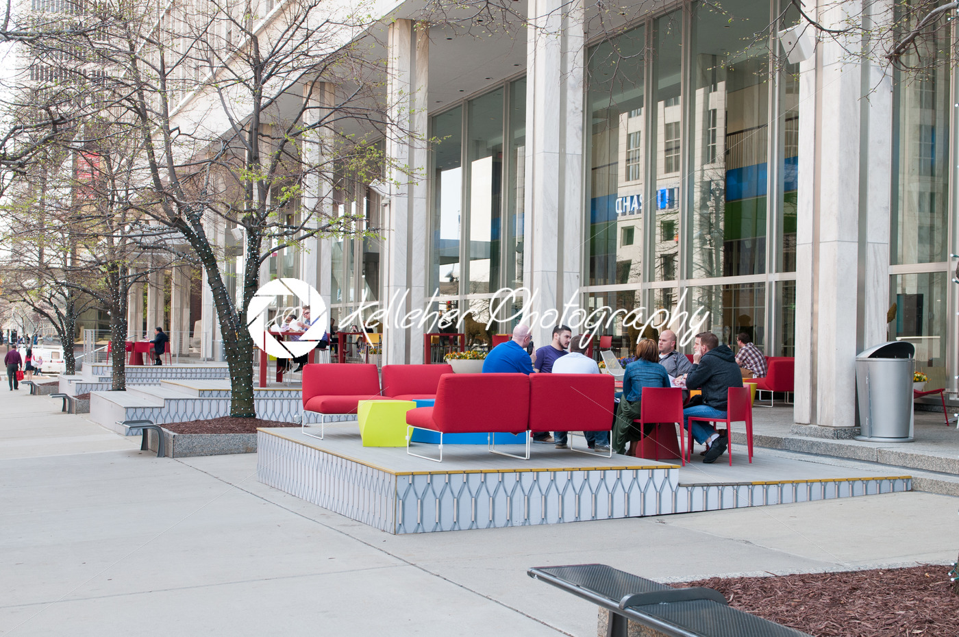 DETROIT, MI – MAY 8: People enjoying the revitalized Campus Martius park in Detroit, MI on May 8, 2014 - Kelleher Photography Store