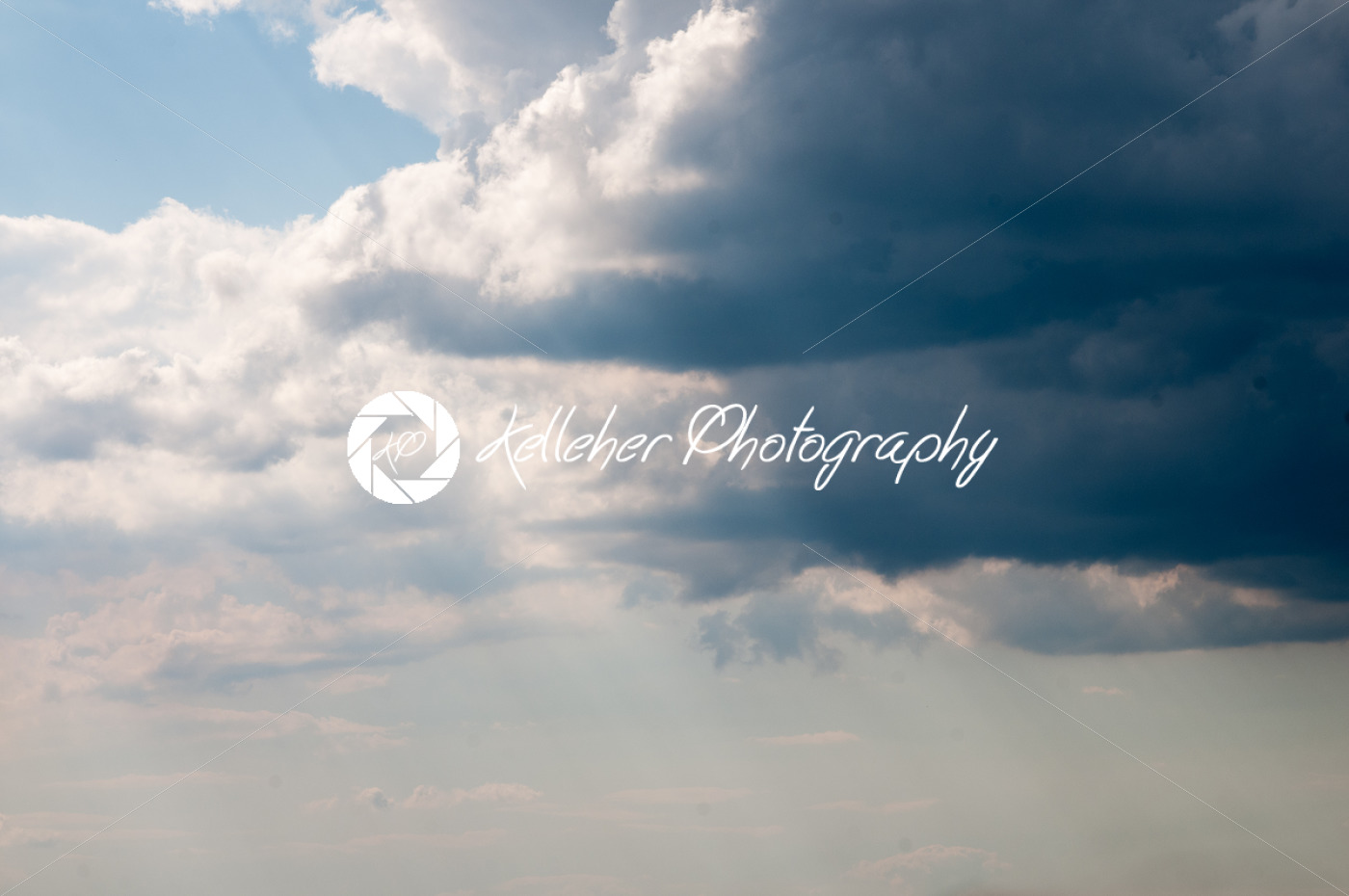 Dark storm clouds sky. Copy space below - Kelleher Photography Store