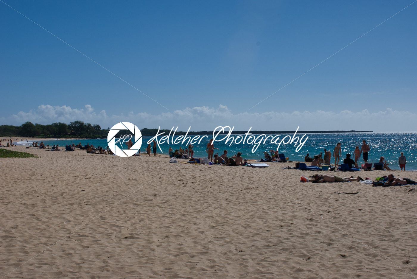 Beach Life At Mokapu Park On The Hawaiian Island Of Maui