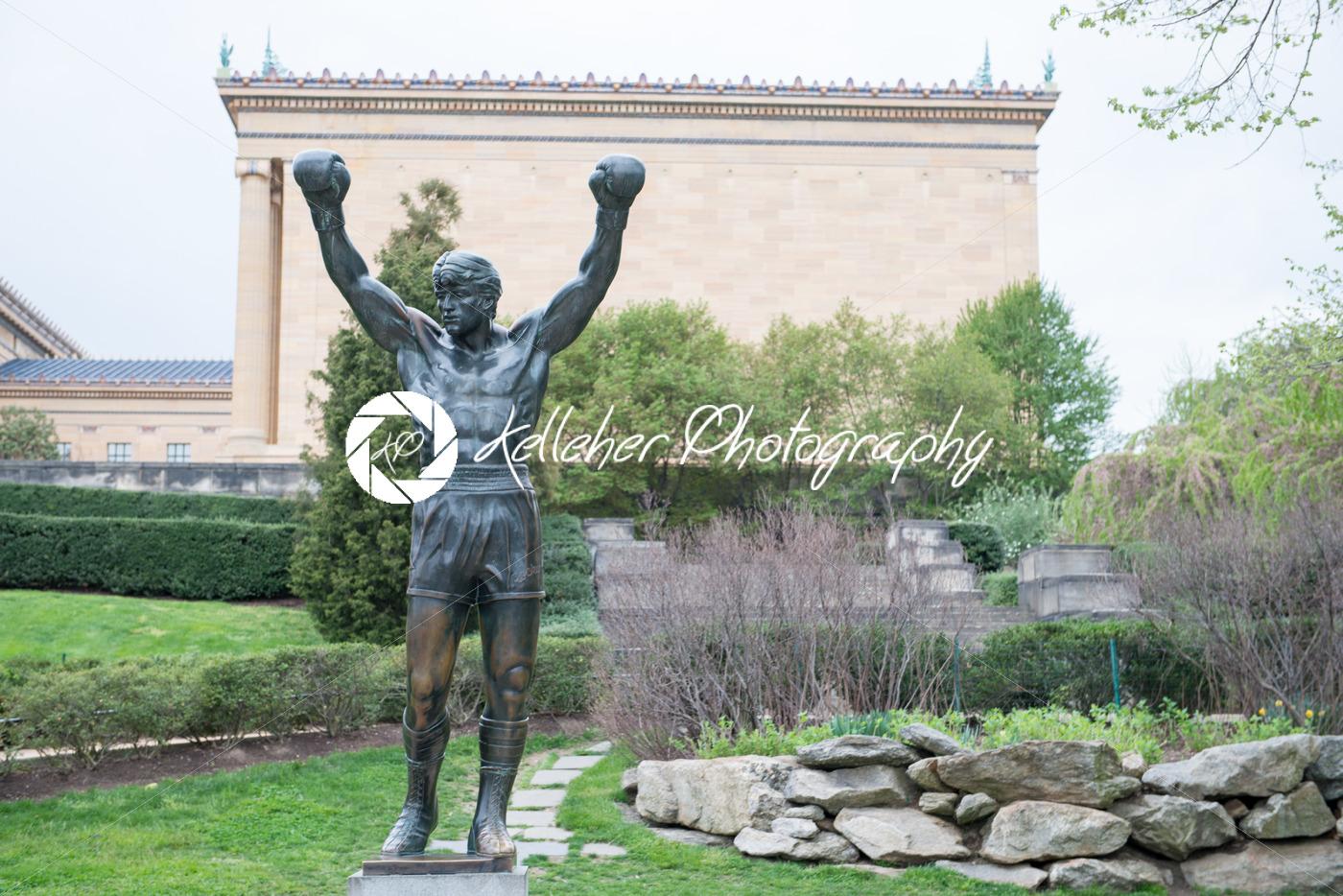 PHILADELPHIA, PA – APRIL 19: The Rocky Statue outside of the Philadelphia Museum of Art on April 19, 2013 - Kelleher Photography Store