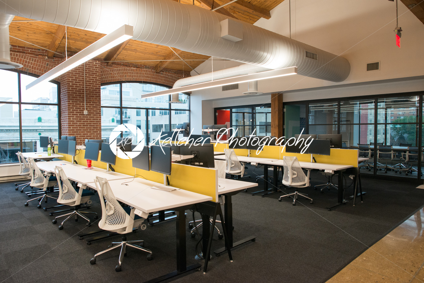 office space lighting. Trendy Modern Open Concept Loft Office Space With Big Windows, Natural Light And A Layout To Lighting