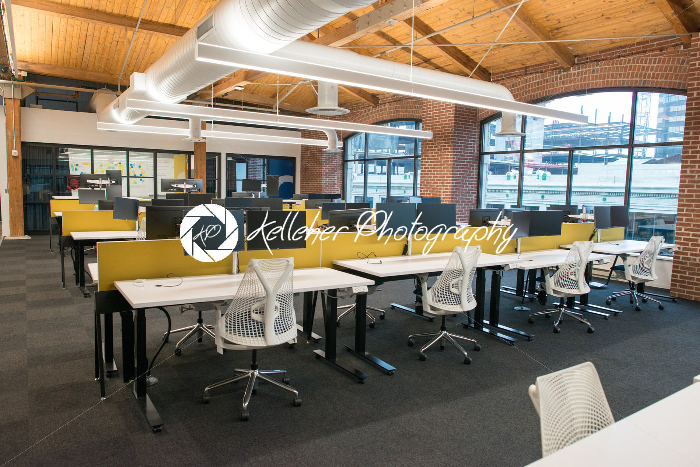 Office Natural Light Trendy Modern Open Concept Loft Office Space