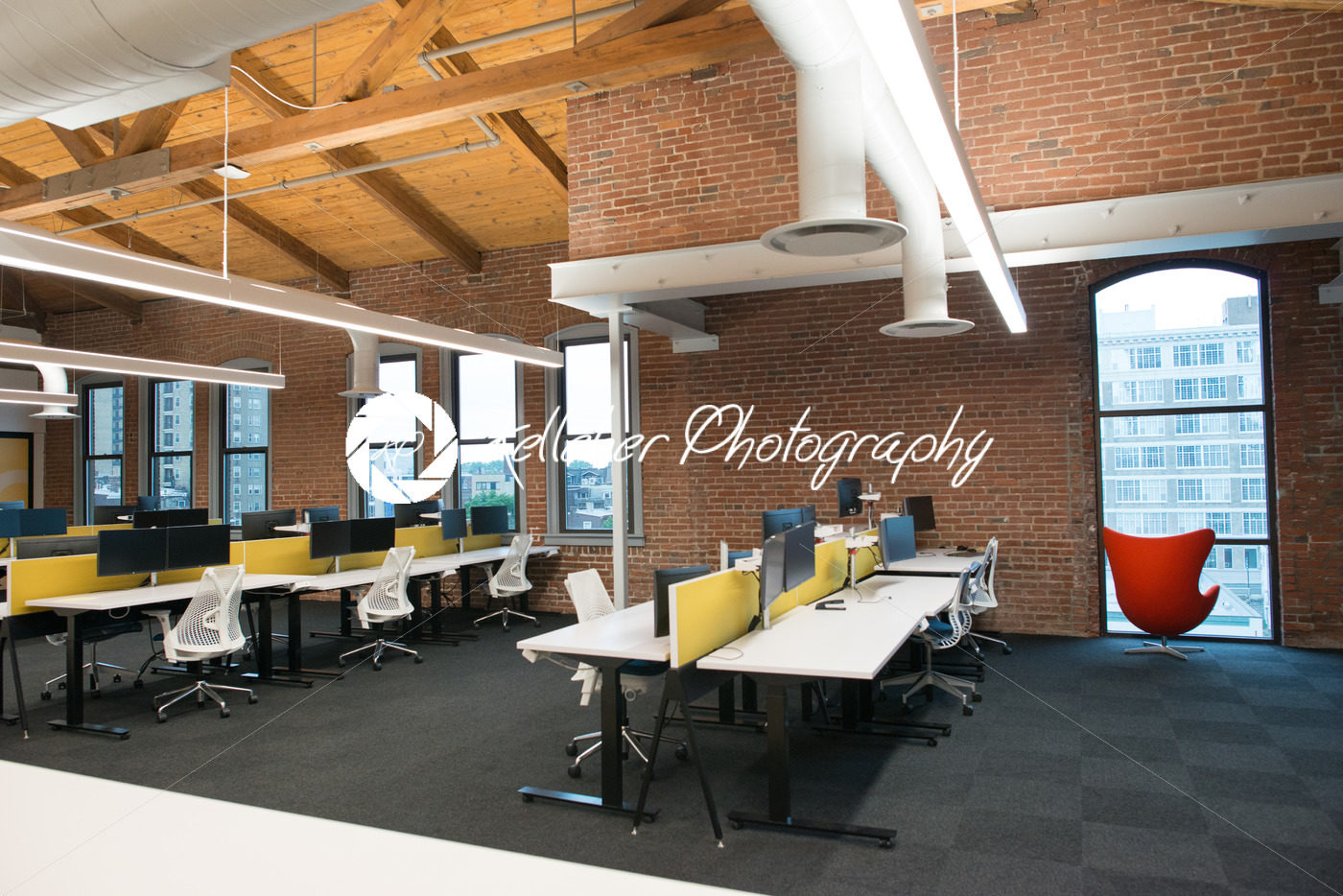 Nice Trendy Modern Open Concept Loft Office Space With Big Windows, Natural  Light And A Layout To ...