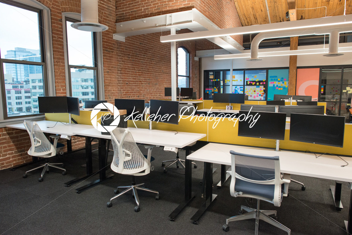 open concept office space. Trendy Modern Open Concept Loft Office Space With Big Windows, Natural Light And A Layout To Encourage Collaboration, Creativity Innovation R