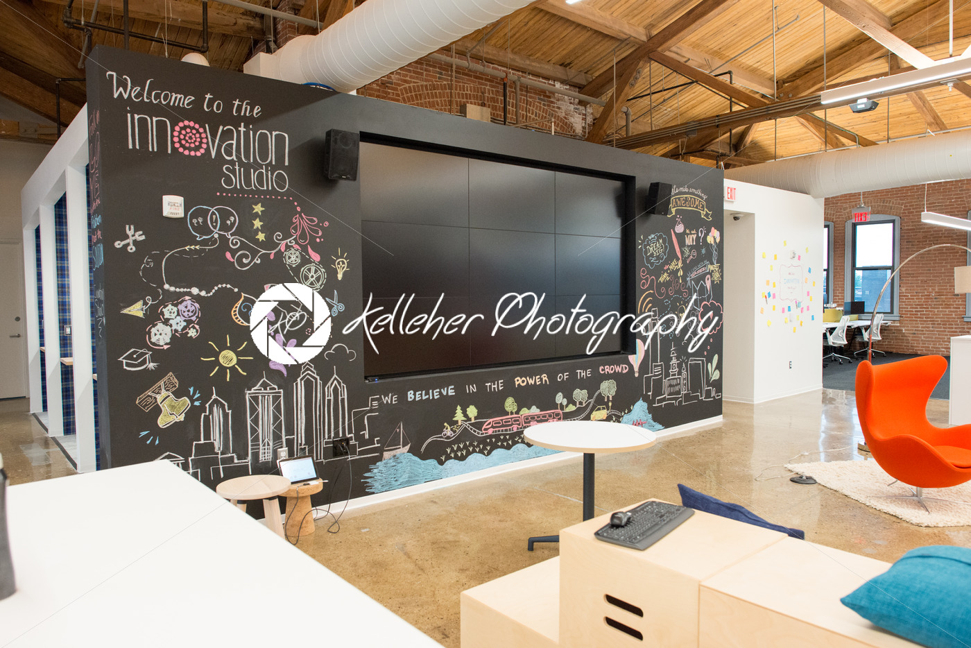 natural light office. Trendy Modern Open Concept Loft Office Space With Big Windows, Natural Light And A Layout To