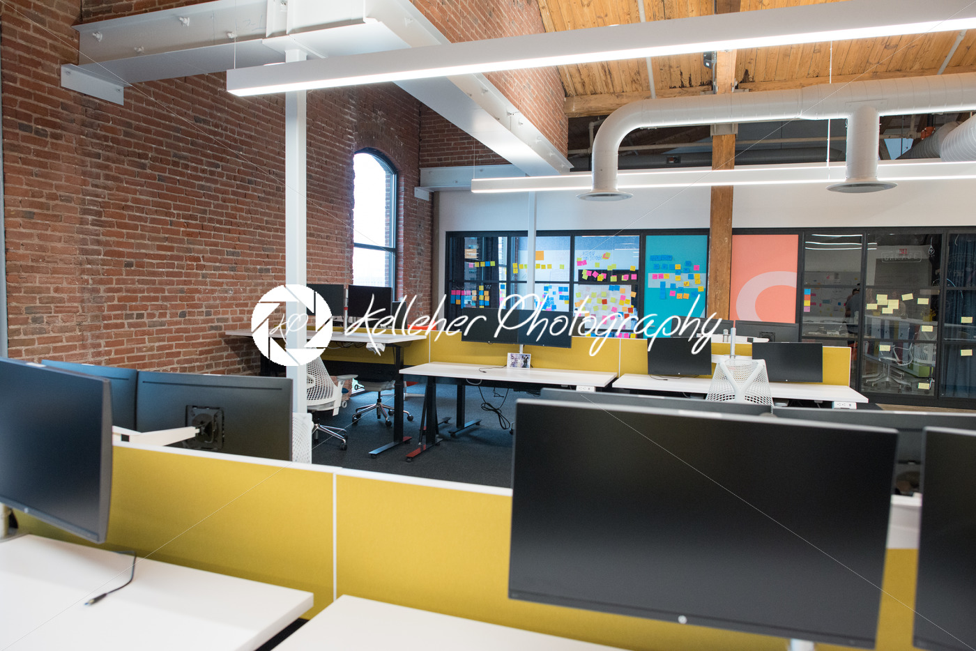 natural light office. Trendy Modern Open Concept Loft Office Space With Big Windows, Natural Light And A Layout To G