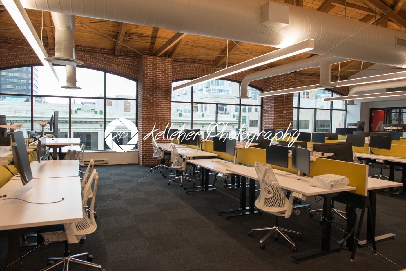 Trendy Modern Open Concept Loft Office Space With Big Windows, Natural  Light And A Layout To ...