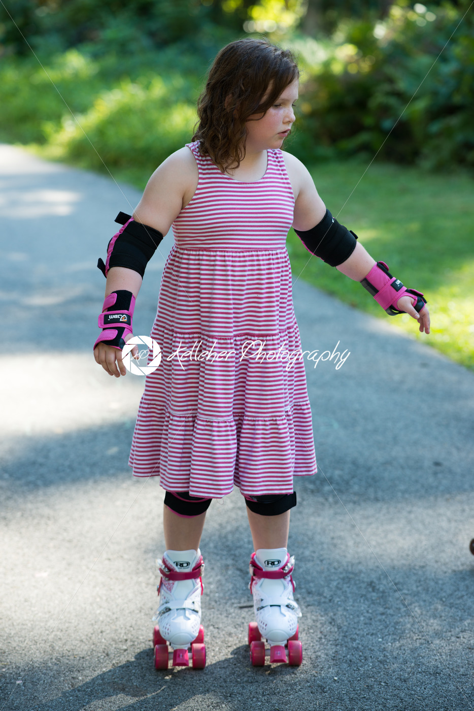 Protection of knees and elbows during roller skating