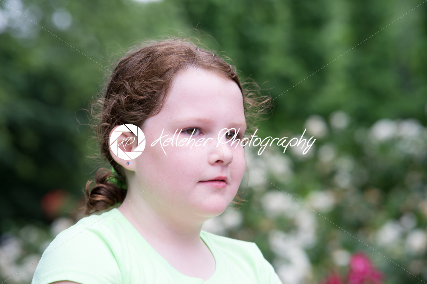 Close-up portrait of a cute girl looking away - Kelleher Photography Store