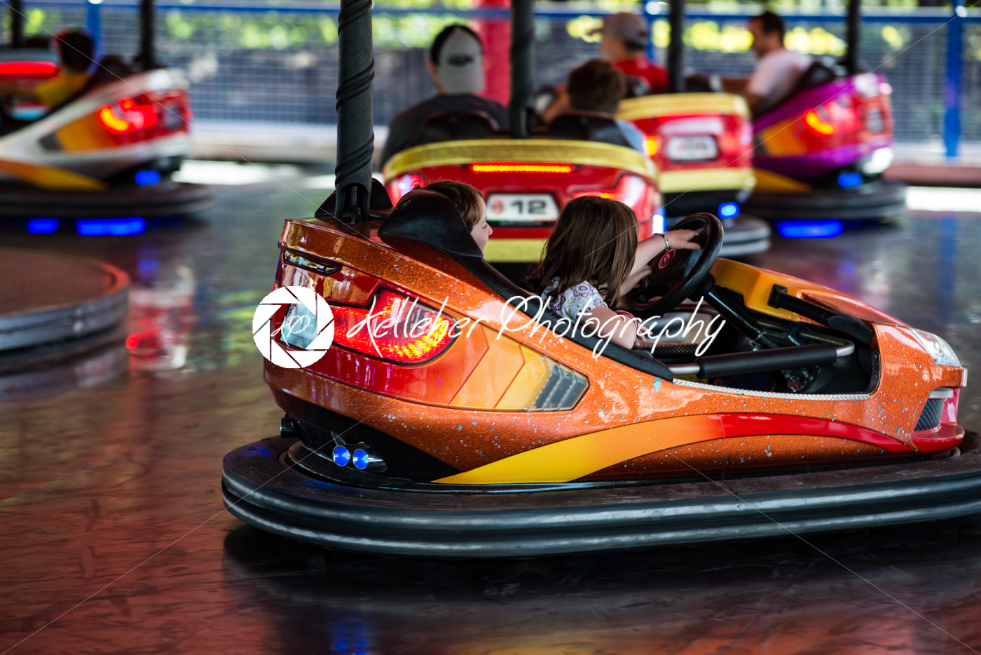 ALLENTOWN, PA – OCTOBER 22: Bumper Cars at Dorney Park in Allentown, Pennsylvania - Kelleher Photography Store