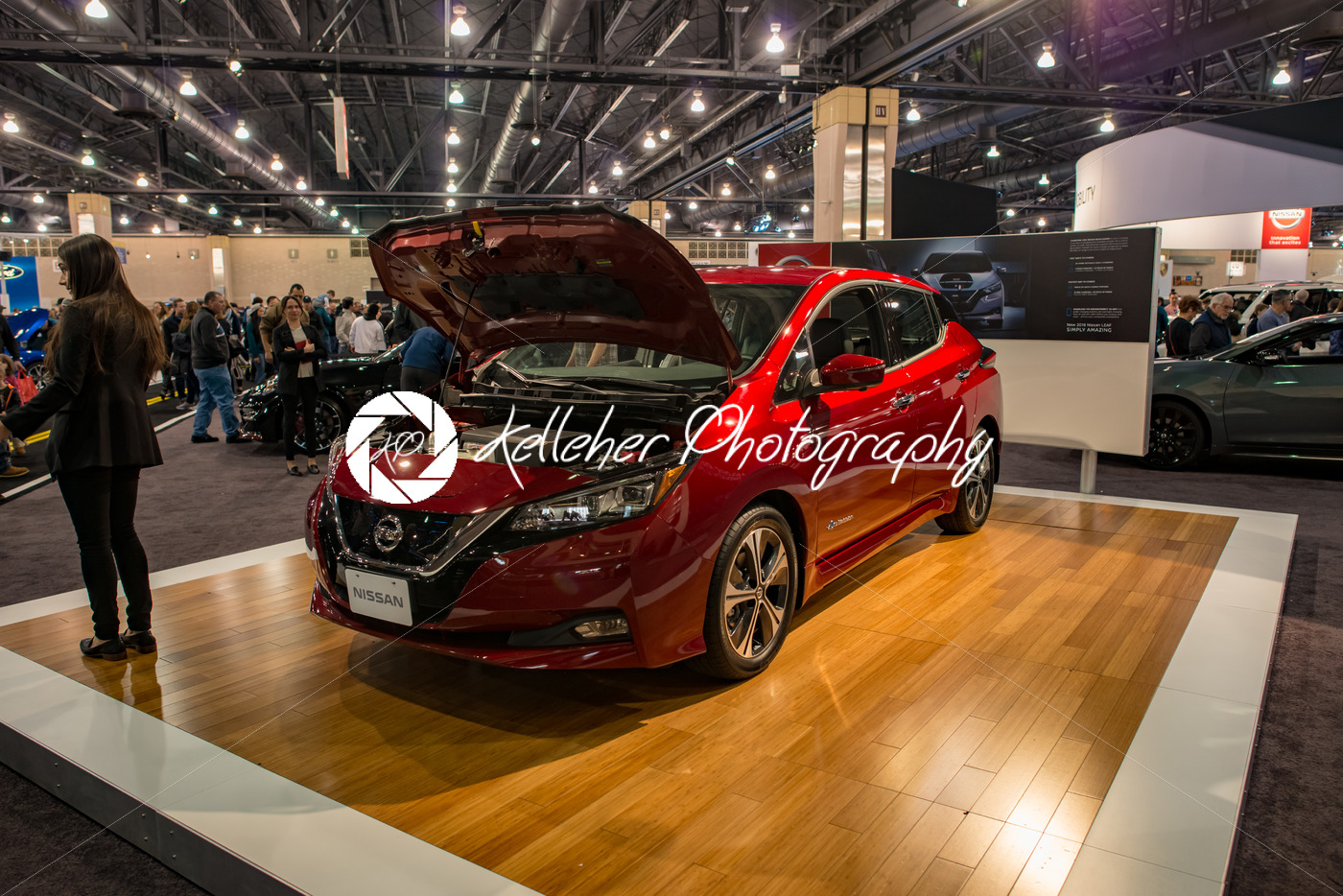 Philadelphia Pa Feb 3 Nissan Leaf Ev Electric Vehicle