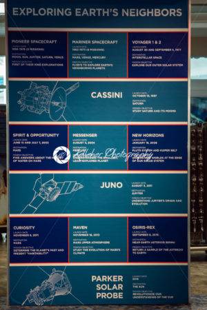 Cape Canaveral, Florida – August 13, 2018: Exploring Earth's Neighbors information board at NASA Kennedy Space Center - Kelleher Photography Store