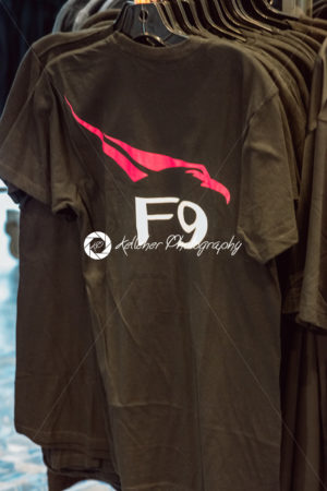 Cape Canaveral, Florida – August 13, 2018: SpaceX Falcon 9 F9 shirt at NASA Kennedy Space Center - Kelleher Photography Store