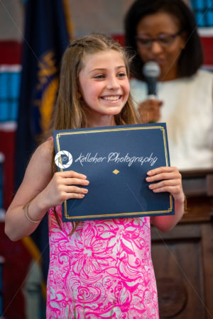 ROSEMONT, PA – MAY 31, 2019: Lower school moving up day graduation for fourth grade at The Agnes Irwin School - Kelleher Photography Store