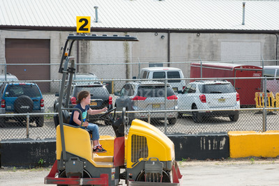 WEST BERLIN, NJ - MAY 28: Diggerland USA, the only construction themed adventure park in North America where children and families can operate actual Stock Photo