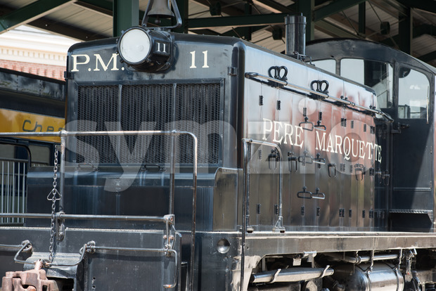 BALITMORE, MD - APRIL 15: PM No.11 Pere Marquette Railway GM-EMD model SW-1 on April 15, 2017 Stock Photo