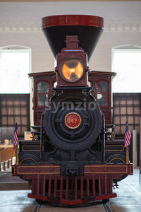 BALITMORE, MD - APRIL 15: B O No. 117 Thatcher Perkins Baltimore Ohio Railroad 4-6-0 Perkins Ten Wheeler on April 15, 2017 Stock Photo