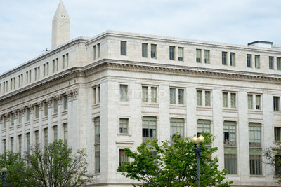 WASHINGTON, DISTRICT OF COLUMBIA - APRIL 14: View of the Department of Agriculture Building on April 14, 2017 Stock Photo