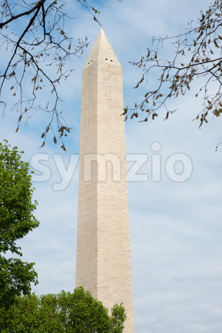 WASHINGTON, DISTRICT OF COLUMBIA - APRIL 14: View of the Washington Monument on April 14, 2017 Stock Photo