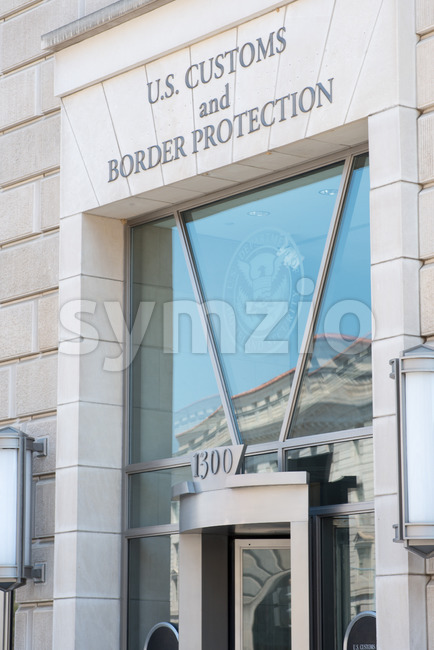 WASHINGTON, DISTRICT OF COLUMBIA - APRIL 14: View of the U.S. Customs and Border Protection Building on April 14, 2017 Stock Photo