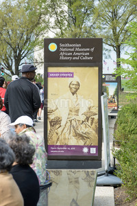 WASHINGTON, DISTRICT OF COLUMBIA - APRIL 14: Smithsonian National Museum of African American History on April 14, 2017 Stock Photo