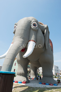 MARGATE, NJ - AUGUST 16: Lucy the Elephant on August 16, 2016 Stock Photo