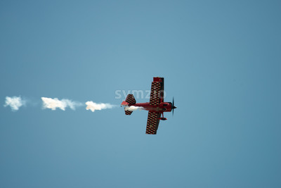 ATLANTIC CITY, NJ - AUGUST 17: Bi-Plane performing at Annual Atlantic City Air Show on August 17, 2016 Stock Photo