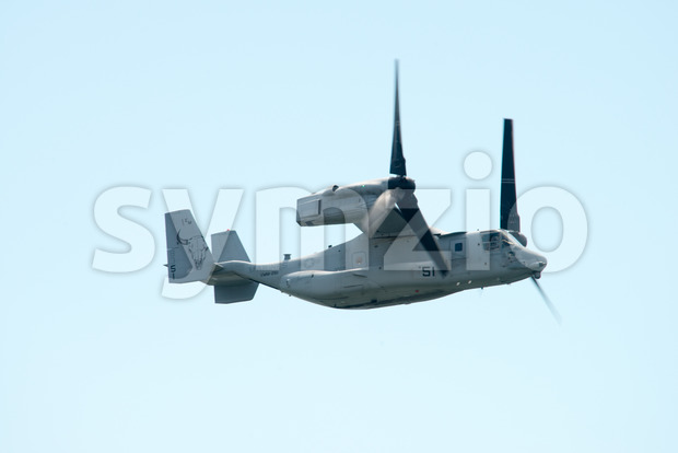 ATLANTIC CITY, NJ - AUGUST 17: Marines V-22 Osprey performing at the Annual Atlantic City Air Show on August 17, 2016 Stock Photo