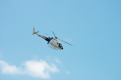 ATLANTIC CITY, NJ - AUGUST 17: US Customs and Border Protection Helicopter at Atlantic City Air Show on August 17, 2016 Stock Photo
