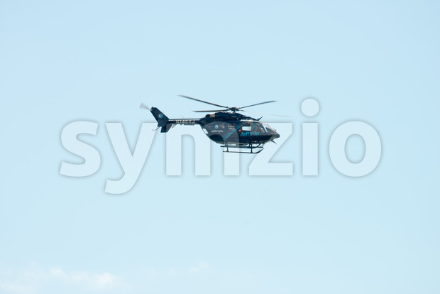ATLANTIC CITY, NJ - AUGUST 17: Jeffstat Helicopter at Annual Atlantic City Air Show on August 17, 2016 Stock Photo