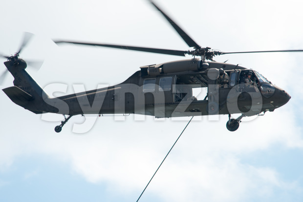 ATLANTIC CITY, NJ - AUGUST 17: US Army Helicopter at Annual Atlantic City Air Show on August 17, 2016 Stock Photo