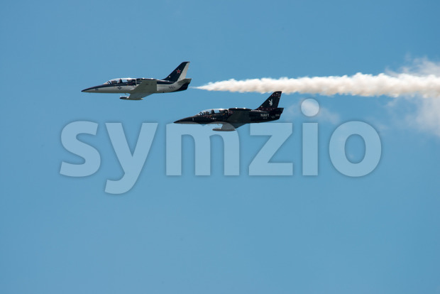 ATLANTIC CITY, NJ - AUGUST 17: Navy Jet at Annual Atlantic City Air Show on August 17, 2016 Stock Photo