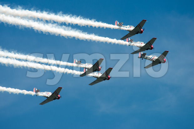 ATLANTIC CITY, NJ - AUGUST 17: Geicko Skytypers performing at the Annual Atlantic City Air Show on August 17, 2016 Stock Photo