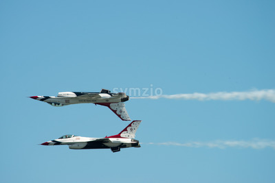 ATLANTIC CITY, NJ - AUGUST 17: U.S. Air Force Thunderbirds at the Annual Atlantic City Air Show on August 17, 2016 Stock Photo