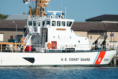 The U.S. Coast Guard Cutter Crocodile, located in Cape May Point, NJ Stock Photo