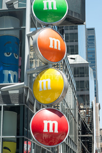 View of the MM Store located in Times Square, NYC, NY on June 18, 2016 Stock Photo