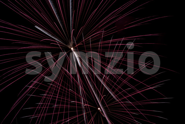 Fireworks light up the sky with dazzling display Stock Photo