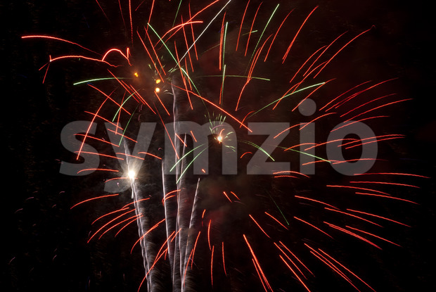 Fireworks light up the sky with a dazzling display