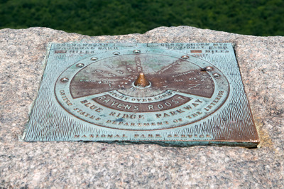 Raven's Roost Overlook, Blue Ridge Parkway Mountains Stock Photo