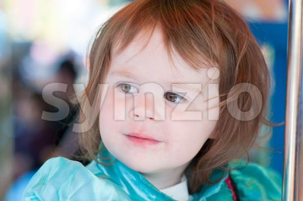Close up Portrait of young girl outside Stock Photo