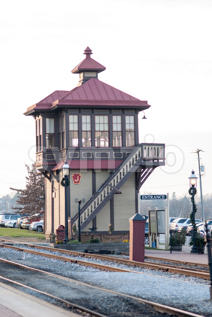 STRASBURG, PA - DECEMBER 15: Train Station Overlook Tower in Strasburg, Pennsylvania on December 15, 2012 Stock Photo