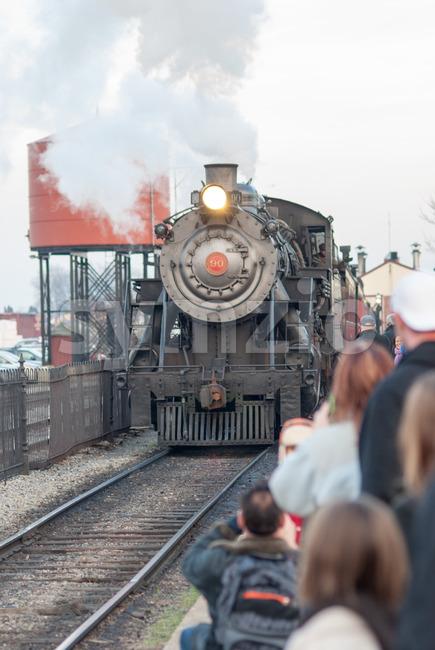 STRASBURG, PA - DECEMBER 15: View of Steam Locomotive in Strasburg, Pennsylvania on December 15, 2012
