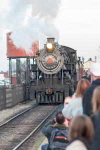 STRASBURG, PA - DECEMBER 15: Steam Locomotive in Strasburg, Pennsylvania on December 15, 2012 Stock Photo