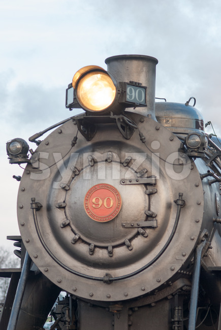 STRASBURG, PA - DECEMBER 15: Steam Locomotive in Strasburg, Pennsylvania on December 15, 2012 Stock Photo