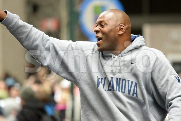 PHILADELPHIA, PA - APRIL 8: Celebration Parade for Villanova Men's Basketball Team, 2016 NCAA Champions on April 8, 2016 Stock Photo