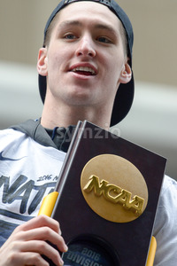 PHILADELPHIA, PA - APRIL 8: Celebration Parade for Villanova Men's Basketball Team, 2016 NCAA Champions on April 8, 2016 Stock Photo