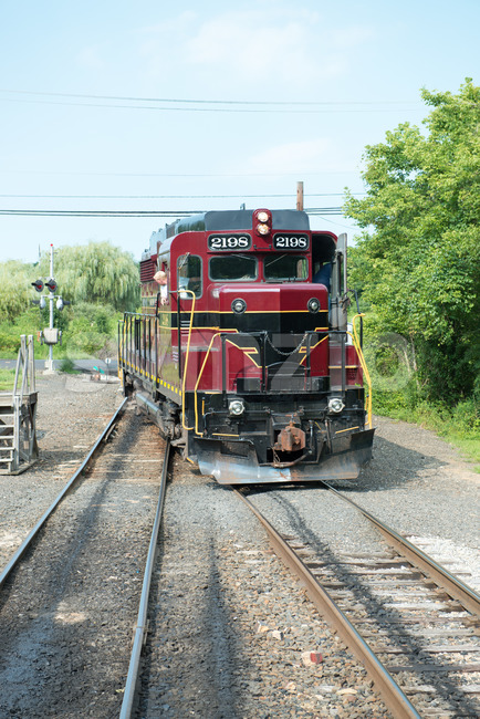 NEW HOPE, PA - AUGUST 11: The New Hope and Ivyland rail road is a heritage train line for visitors going on touristic excursions in Bucks County, Stock Photo